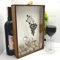 Копилка для винных пробок «Гроздь винограда» купить Минск