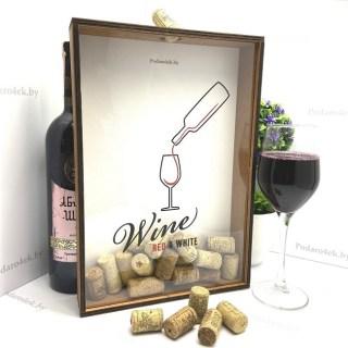 Копилка для винных пробок «Red White» купить Минск