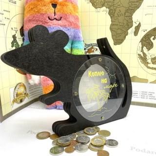 Копилка крыса «Коплю на море» деревянная купить Минск +375447651009