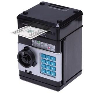 Копилка сейф с купюроприемником черная купить в Минске +375447651009