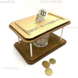 Копилка со стаканом «Все в семью» купить в Минске +375447651009