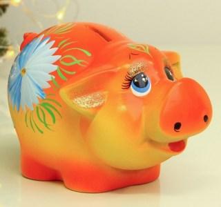 Копилка «Свинка Люся» купить в Минске +375447651009