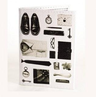 Кожаная обложка на паспорт «Чисто мужская» Минск