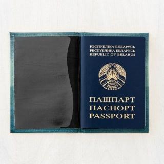 Кожаная обложка на паспорт «Котик со спасательным кругом» купить Минск +375447651009