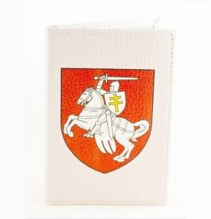 Кожаная обложка на паспорт«Погоня» на белом Минск