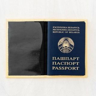 Кожаная обложка на паспорт «Рыжая лиса» купить Минск +375447651009