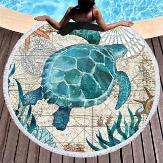 Круглый пляжный коврик «Черепаха» купить Минск +375447651009