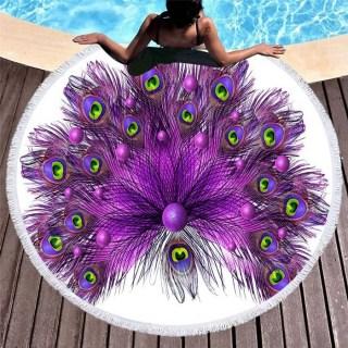 Пляжный коврик «Фиолетовый Павлин» купить Минск +375447651009