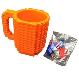 Кружка «LEGO» с конструктором оранжевая Минск +375447651009