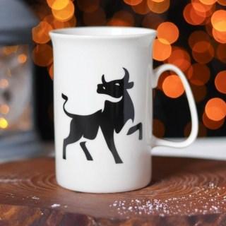 Кружка новогодняя «Бычок» купить в Минске +375447651009