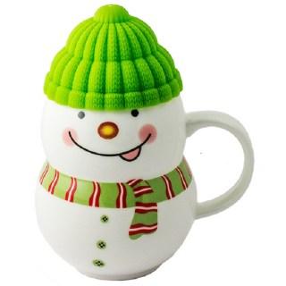 Кружка «Снеговичок» зеленая шапка купить в Минске +375447651009