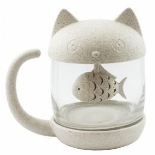 Кружка-заварник «Котик с рыбкой» купить в Минске +375447651009