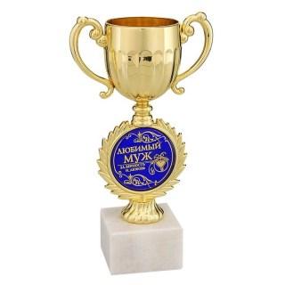 Кубок сувенирный на камне «Любимый муж» купить Минск