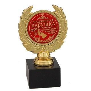 Кубок сувенирный на камне «Продвинутая бабушка» купить в Минске +375447651009