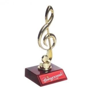 Кубок в виде скрипичного ключа «Выпускник» купить Минск +375447651009