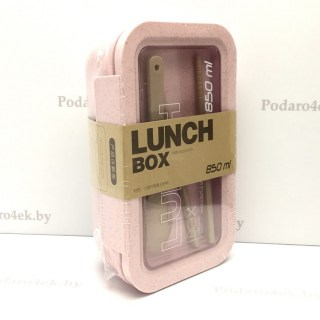Ланч бокс «Delicious lunch» розовый 850 мл Минск +375447651009