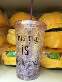 Купить Ледяной стакан «FROSTY MUG» с трубочкой и крышкой фиолетовый в Минске +375447651009