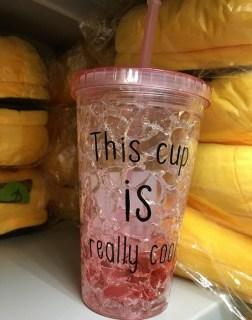 Купить Ледяной стакан «FROSTY MUG» с трубочкой и крышкой красный в Минске +375447651009