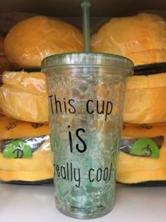 Купить Ледяной стакан «FROSTY MUG» с трубочкой и крышкой зеленый в Минске +375447651009