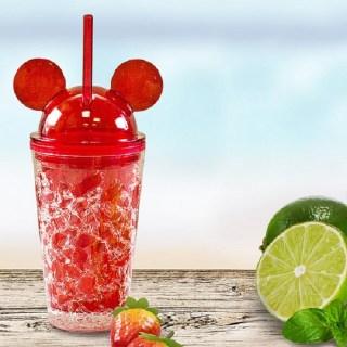 Ледяной стакан «Микки Маус» с трубочкой красный купить Минск +375447651009
