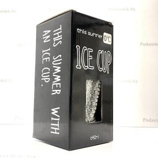 Ледяной стакан «Dear saturday» с трубочкой синий Минск +375447651009