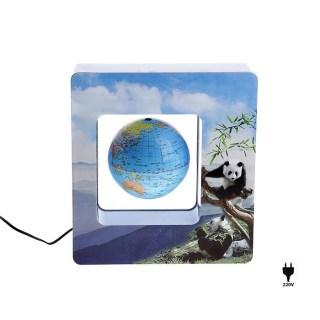Левитирующий глобус в рамке с пандами купить в Минске +375447651009