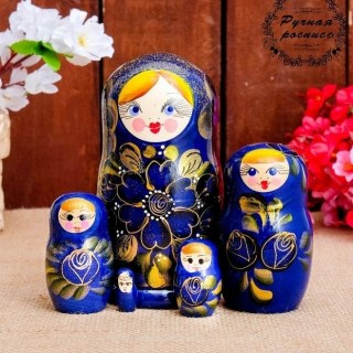 Матрешка «Акулина» 5 кукол купить в Минске +375447651009