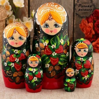 Матрешка «Анечка с ягодами» 5 кукол купить в Минске +375447651009