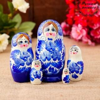 Матрешка «Анютины глазки» 5 кукол микс купить в Минске +375447651009