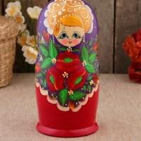 Матрешка «Боярыня» фиолетовый платок 7 кукол купить в Минске +375447651009