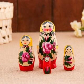 Матрешка «Летняя» 4 куклы купить в Минске +375447651009