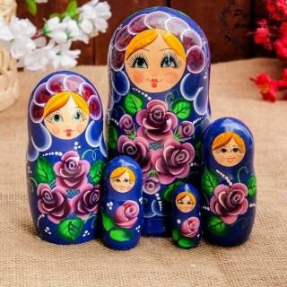 Матрешка «Оленька» 5 кукол 18 см. купить в Минске +375447651009