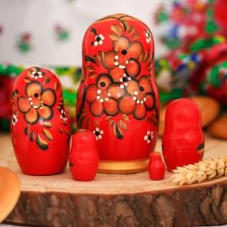 Матрешка «Русская краса» 5 кукол купить в Минске +375447651009