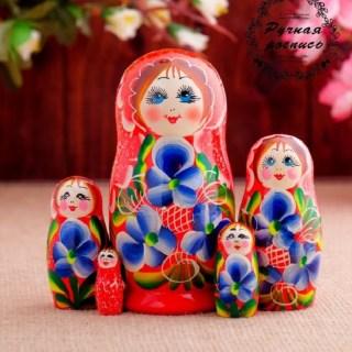 Матрешка «Сударушка» красное платье купить в Минске +375447651009
