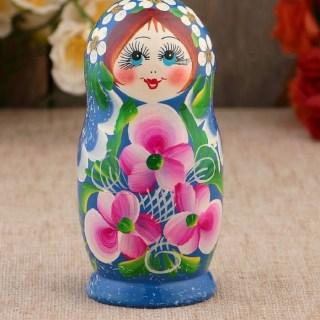 Матрешка «Цветочная» 5 кукол купить в Минске +375447651009