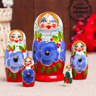 Матрешка «Варенька» белый платок купить в Минске +375447651009