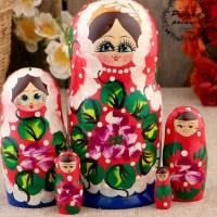 Матрешка «Варенька с бусами»  5 кукол купить в Минске +375447651009