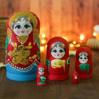 Матрешка «Варвара» 5 кукол микс купить в Минске +375447651009