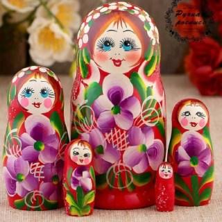 Матрешка «Весняна» 5 кукол купить в Минске +375447651009