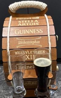 Мини-бар бочка для пива «Premium» с набором бокалов и рюмок купить Минск +375447651009