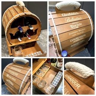 Мини-бар бочка «PREMIUM» в наборе: 12 камней для виски и 5 стаканов Минск +375447651009