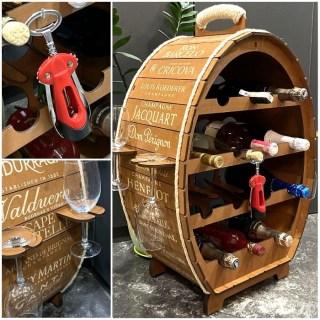 Мини-бар бочка «WINE» с набором бокалов и штопором купить Минск +375447651009