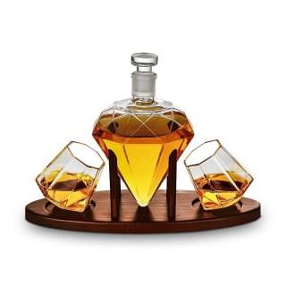 Мини бар для виски «Алмаз» на деревянной подставке с набором стаканов Минск +375447651009