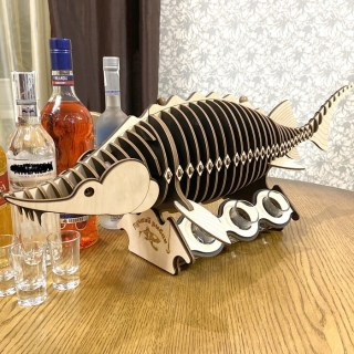 Мини-бар рыба осётр «Лучший рыбак» с комплектом рюмок Минск +375447651009