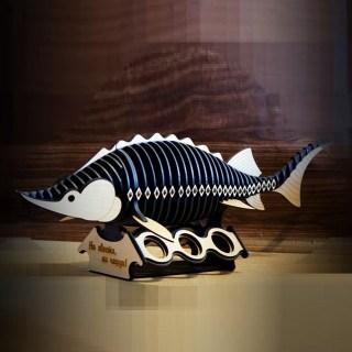 Мини-бар рыба «Осётр» с комплектом рюмок Минск +375447651009