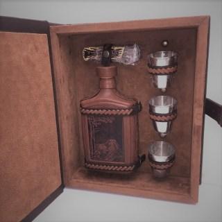 Минибар в кожаной шкатулке «Премиум» 5 предметов купить в Минске +375447651009