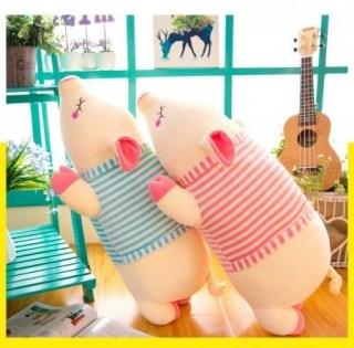 Мягкая игрушка «Поросенок в тельняшке» большая Минск +375447651009