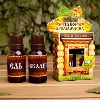Набор аромамасел для парной «Ель, эвкалипт» купить в Минске +375447651009
