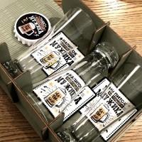 Набор бокалов для пива «Напиток мужика» в деревянной коробке купить Минск