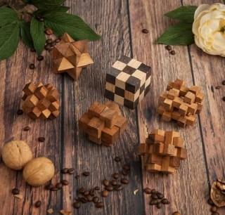 Набор деревянных головоломок в шкатулке купить в Минске